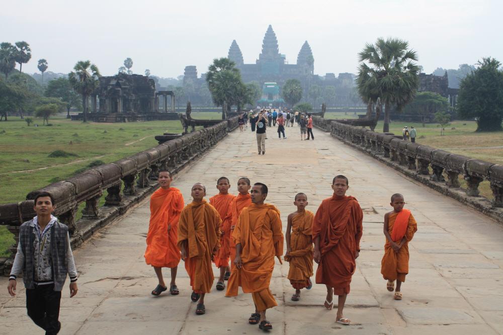 Angor Wat ist an Neujahr ein beliebtes Ausflugsziel.