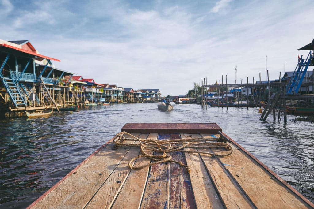 Floating Village auf dem Tonle Sap.
