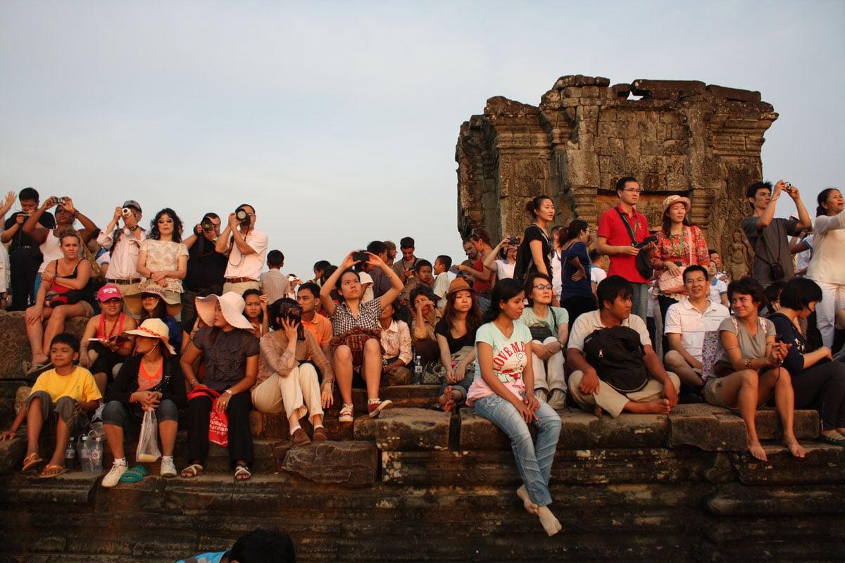 Touristenmassen in Angkor Wat. Alle mit dem Tuk Tuk da ;-)