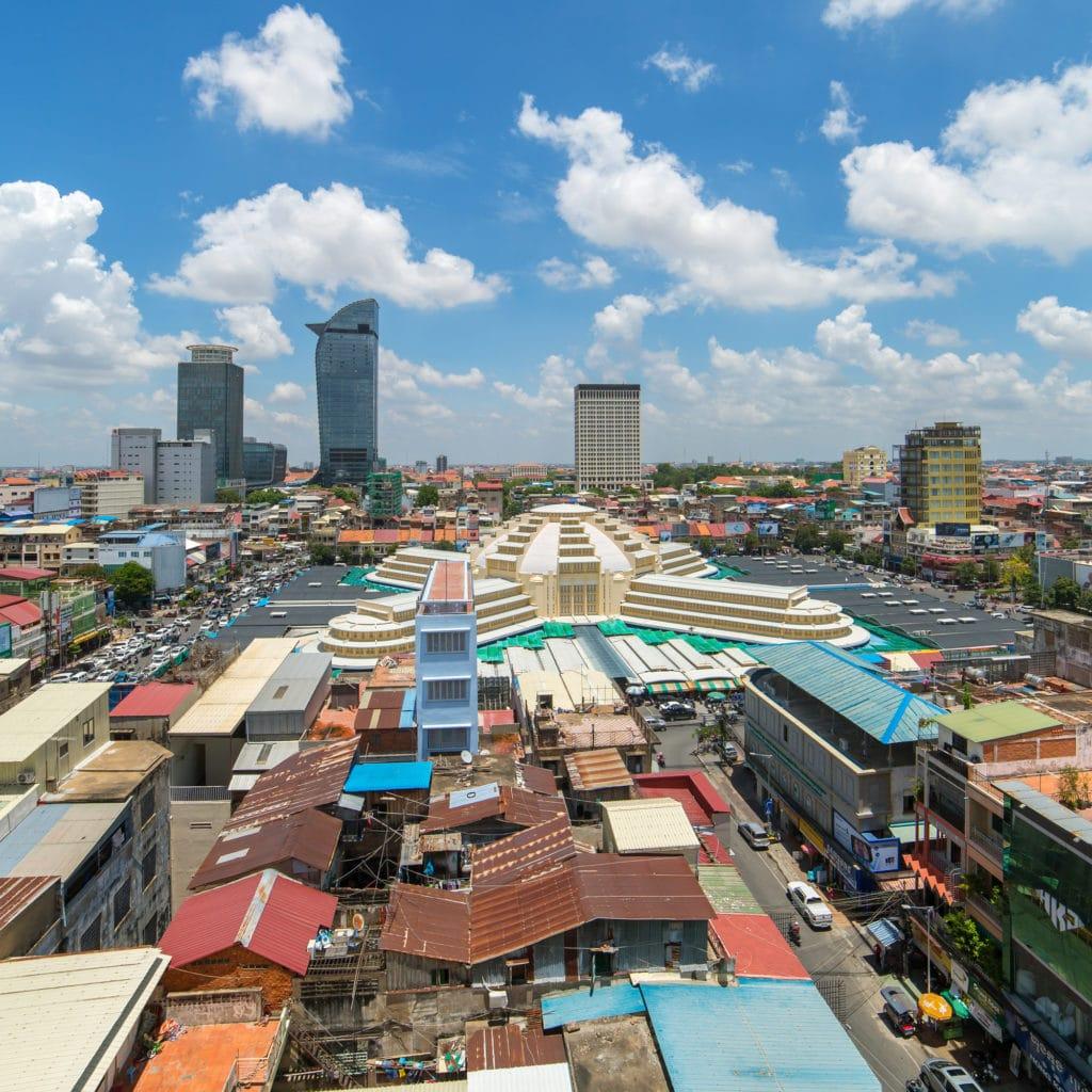 Zentralmarkt Phsar Thmei in Phnom Penh