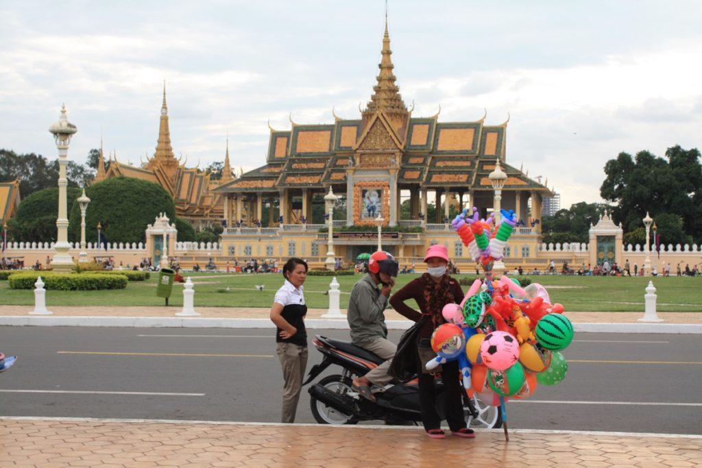 Der Königspalast in Phnom Penh - hier der große Tanzpalast.