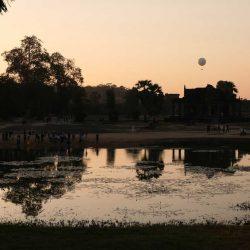 Der Ballon über Angkor Wat, Blick Richtung Osten