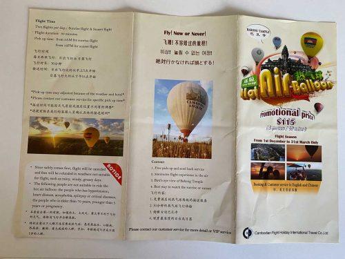 Ballonfahrt im Heißluftballon in Siem Reap