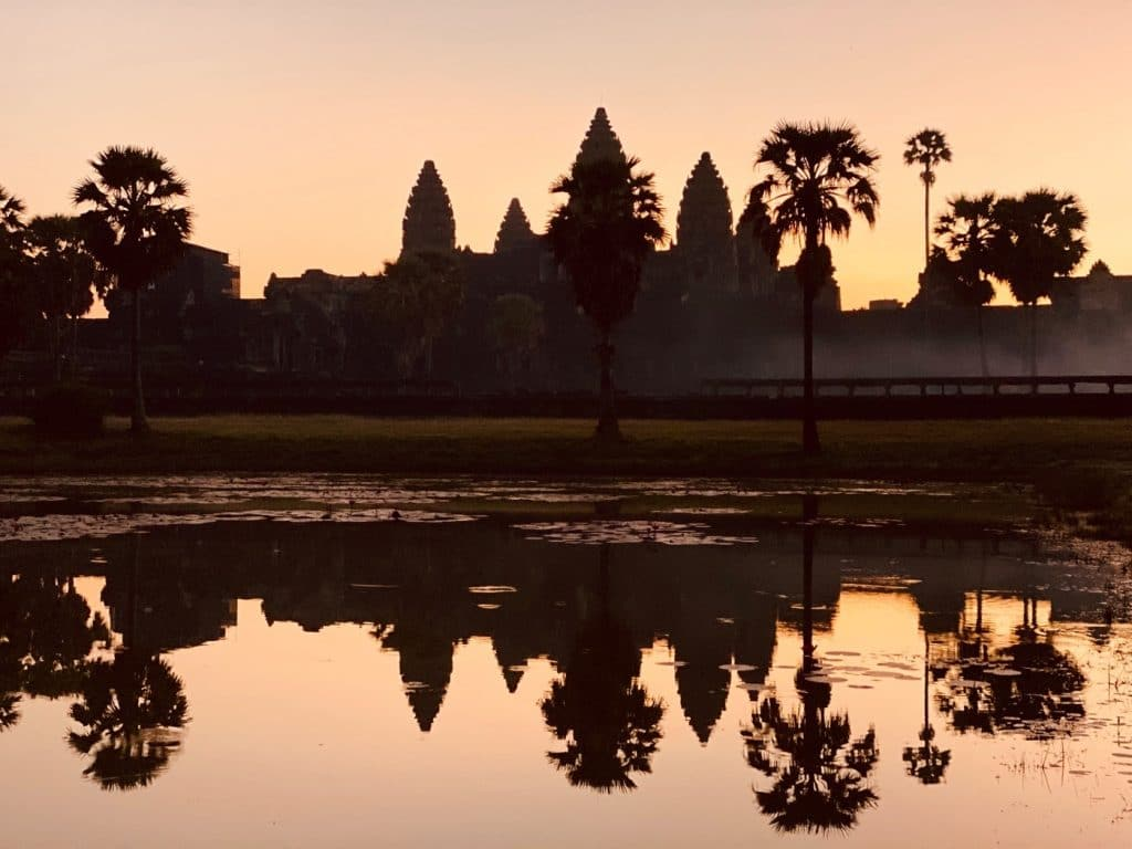 Wo kann man den besten Sonnenaufgang erleben in Angkor Wat?