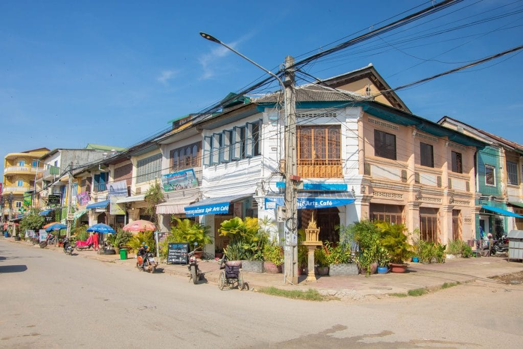 Architektur in der Kolonialstadt Kampot