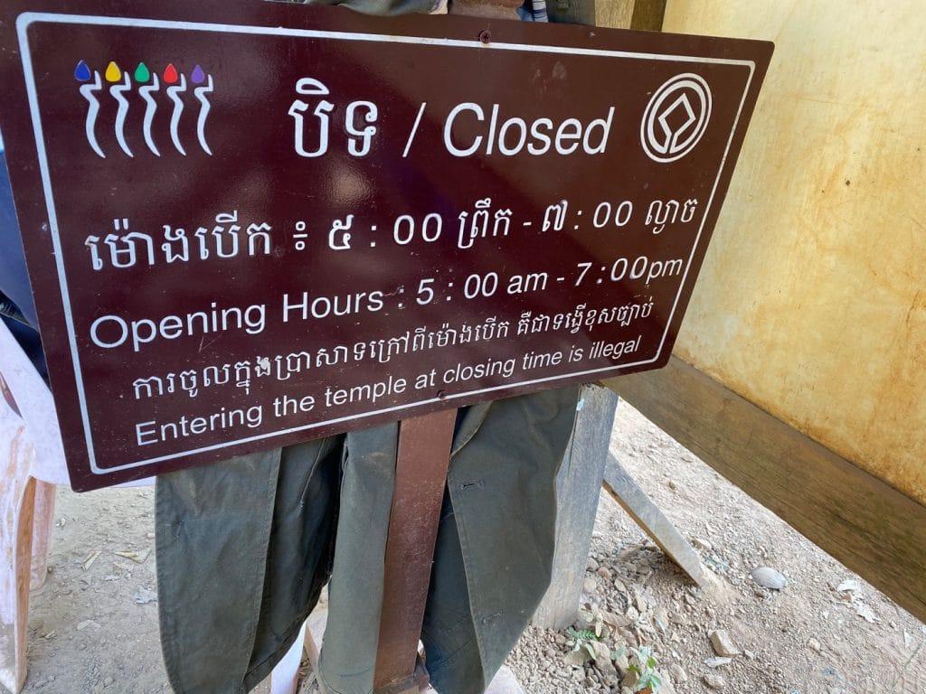 Öffnungszeiten des Phnom Bakheng