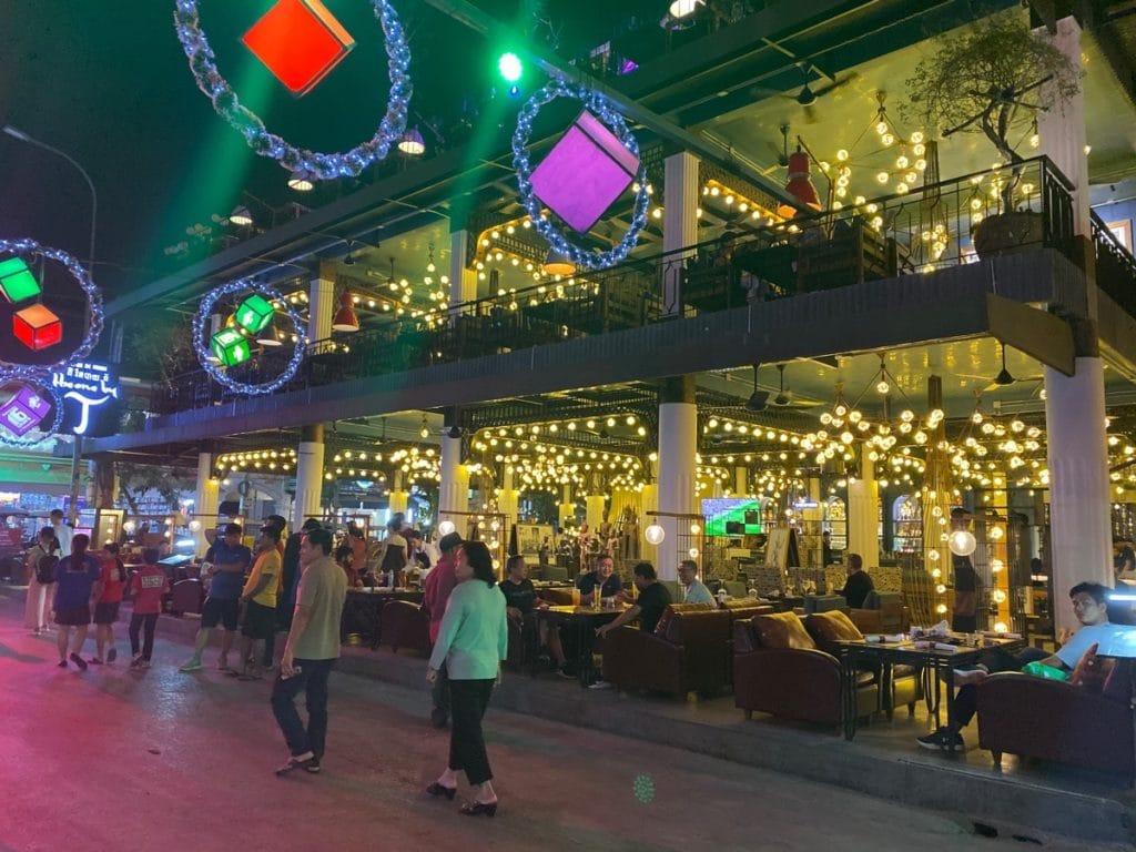Die Pub Street in Siem Reap