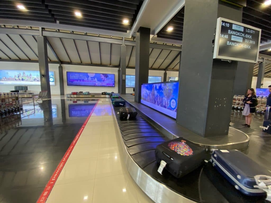 Baggage Claim in der Ankunftshalle in Siem Reap