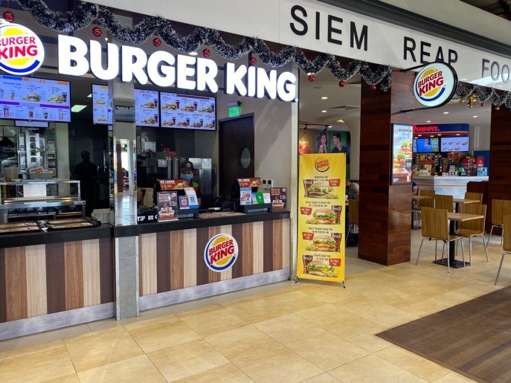 Burgerking in Siem Real am Flughafen