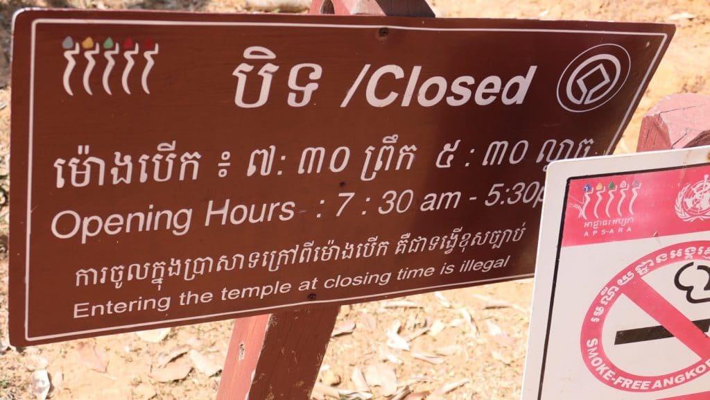 Öffnungszeiten des East Mebon