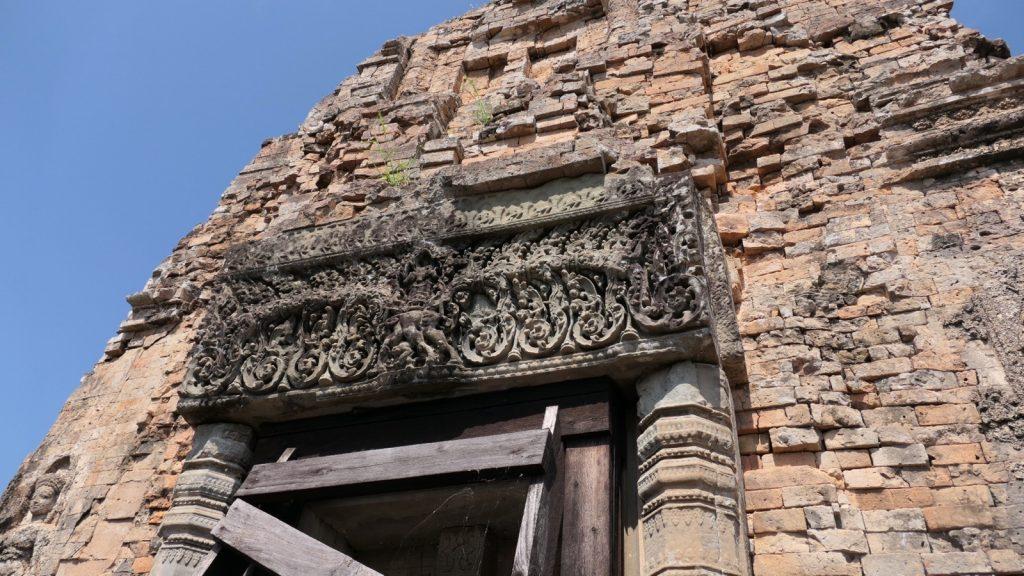 Der Pre Rup Tempel : Einer von vielen Türstürzen auf der 3.Ebene.