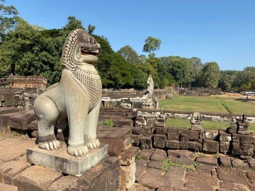 Terrasse der Elefanten und der Große Platz von Angkor Thom.