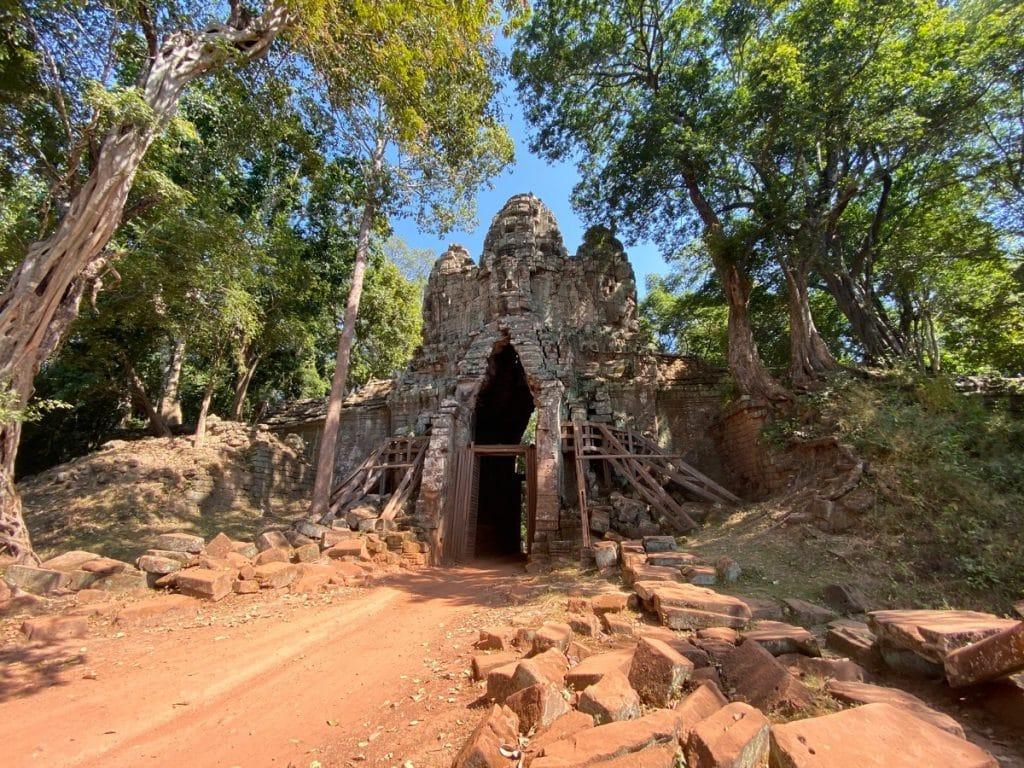 Das Westtor von Angkor Thom
